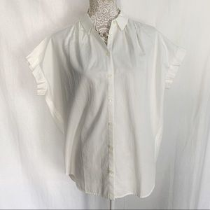Madewell // Button Up Central Shirt in Pure White
